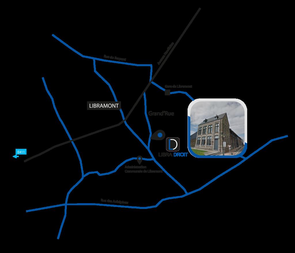 Plan de Libramont et la Grand'rue
